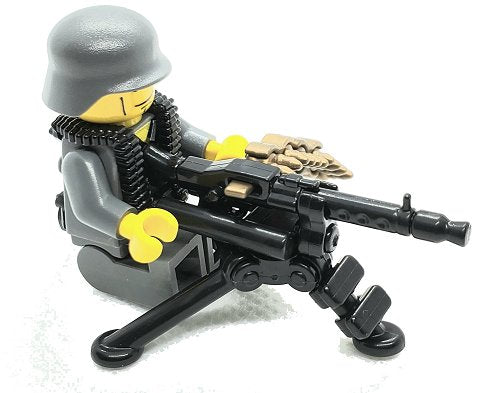Custom Printed Lego - German Tripod w/ MG34+MG42 - The Minifig Co.