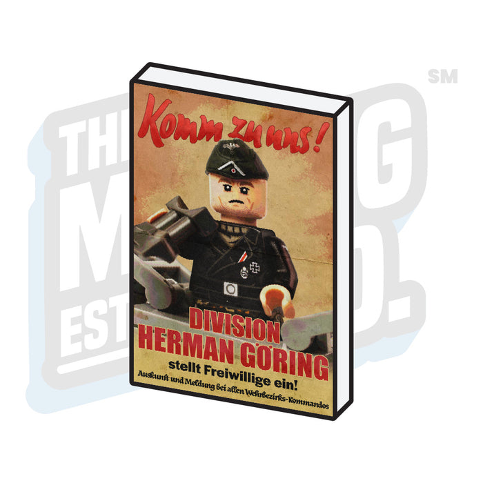 Custom Printed Lego - Propaganda Tile (Herman Goring) - The Minifig Co.