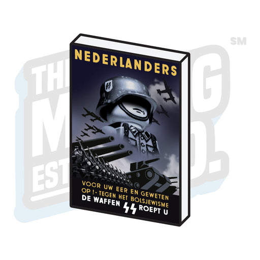 Custom Printed Lego - Propaganda Tile (Nederlanders) - The Minifig Co.