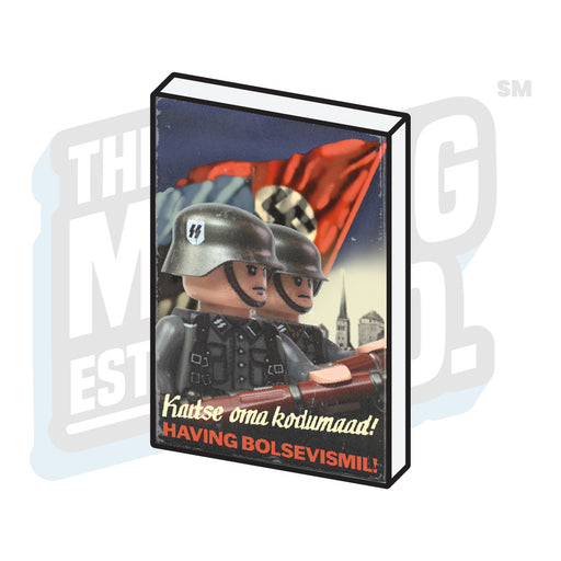 Custom Printed Lego - Propaganda Tile (Soviet #3) - The Minifig Co.