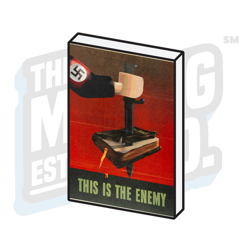 Custom Printed Lego - Propaganda Tile (This Is The Enemy) - The Minifig Co.