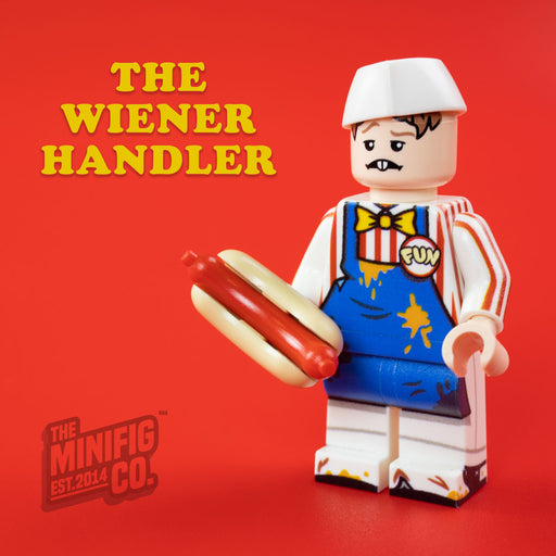 Custom Printed Lego - The Wiener Handler - The Minifig Co.