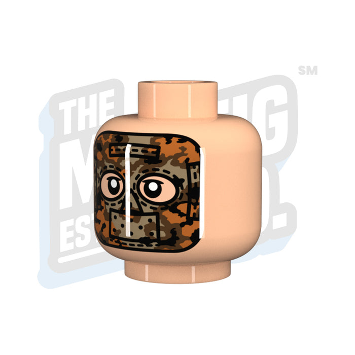 Custom Printed Lego - Autumn Oakleaf Mask Head (Lt. Flesh) - The Minifig Co.