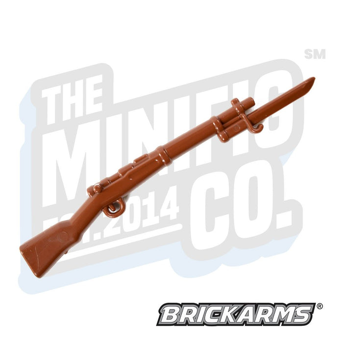 Custom Printed Lego - Arisaka with Bayonet (Brown) - The Minifig Co.