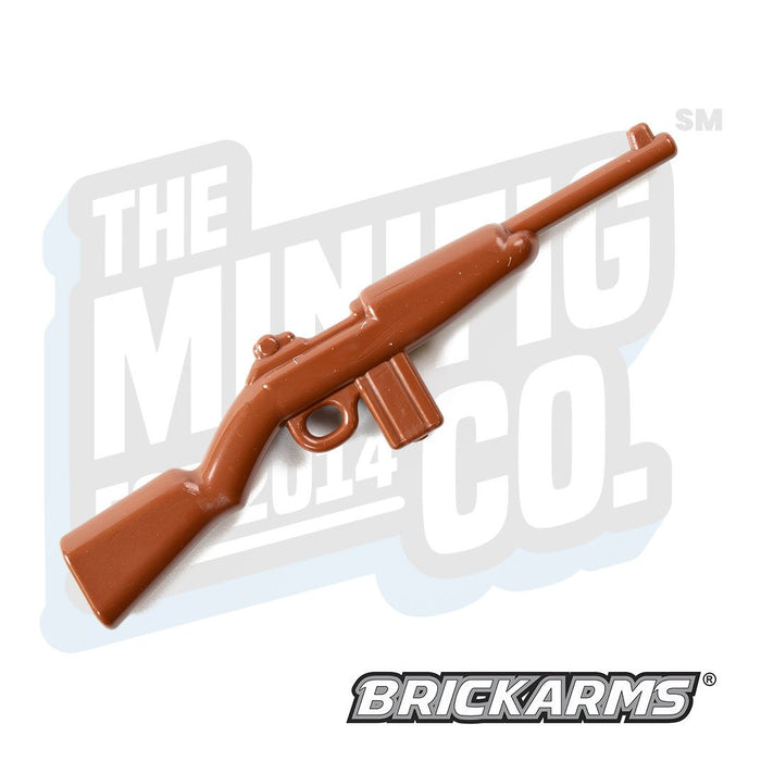 Custom Printed Lego - M1 Carbine (Full Stock) (Brown) - The Minifig Co.