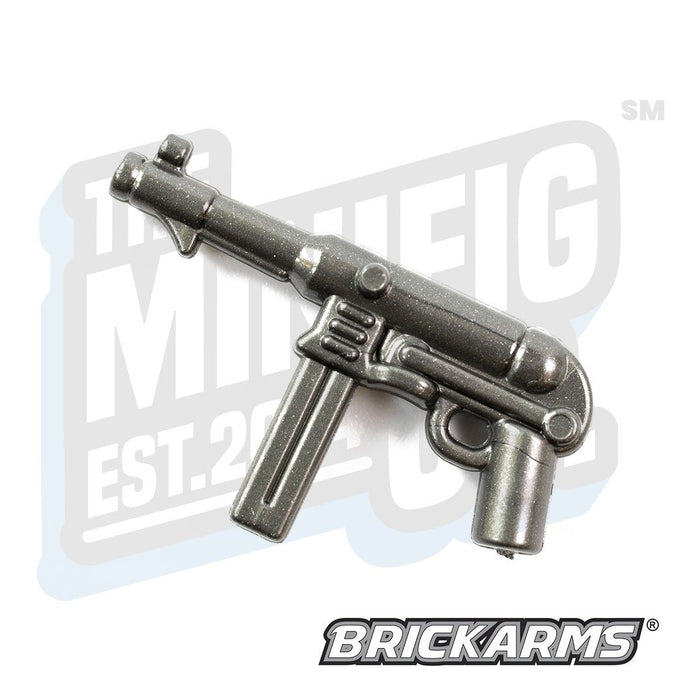 Custom Printed Lego - MP40 V3 (Gunmetal) - The Minifig Co.