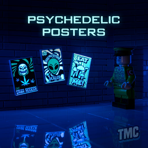 Custom Printed Lego - Psychedelic Tile Pack - The Minifig Co.