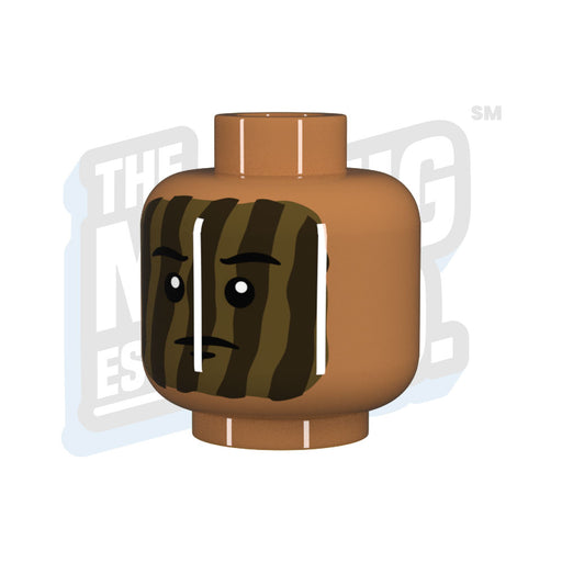 Custom Printed Lego - Camo Face Head - The Minifig Co.