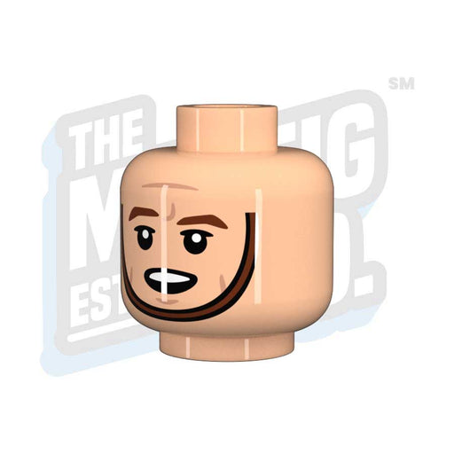 Custom Printed Lego - Chinstrap Head #05 (Lt. Flesh) - The Minifig Co.