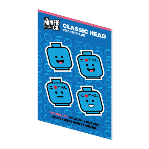 Custom Printed Lego - Classic Heads - Sticker Pack - The Minifig Co.