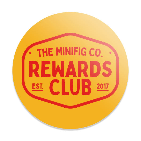 Custom Printed Lego - Rewards Club Coaster - The Minifig Co.