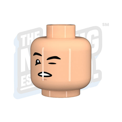 Custom Printed Lego - Head Wink #01 - The Minifig Co.