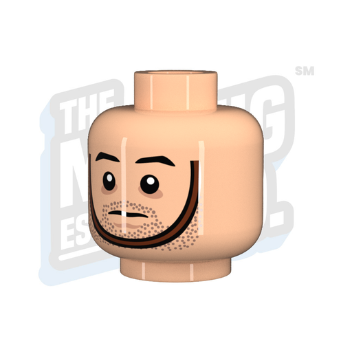Custom Printed Lego - Head G.I. Chinstrap (Lt. Flesh) - The Minifig Co.