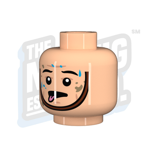 Custom Printed Lego - Head Fatigued Chinstrap - The Minifig Co.