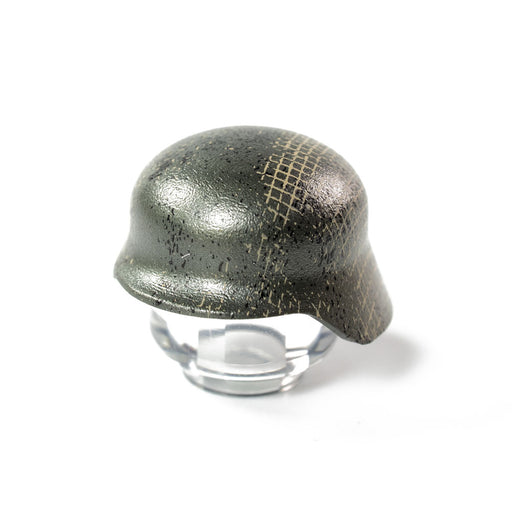 Custom Printed Lego - Weathered Stahlhelm - The Minifig Co.