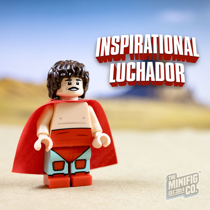 Custom Printed Lego - Inspirational Luchador - The Minifig Co.