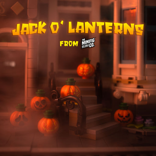 Custom Printed Lego - Jack O' Lanterns Pack - The Minifig Co.