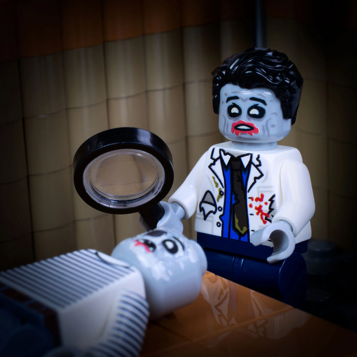 Custom Printed Lego - Zombie Doctor Torso - The Minifig Co.