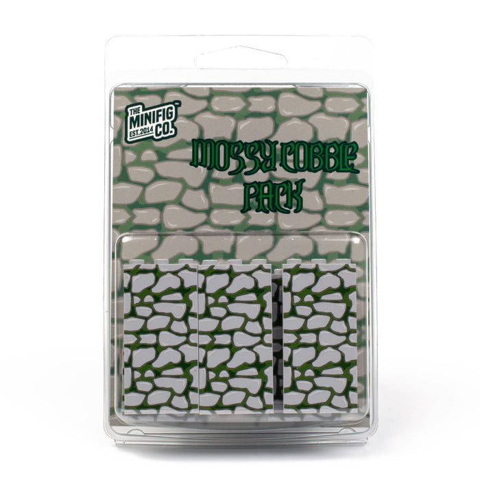 Custom Printed Lego - Mossy Cobble Panel Pack - The Minifig Co.
