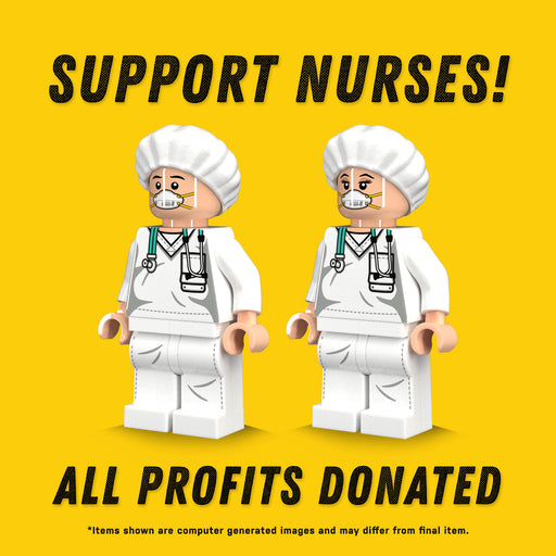 Custom Printed Lego - Nurse Minifigures Support Pack - The Minifig Co.