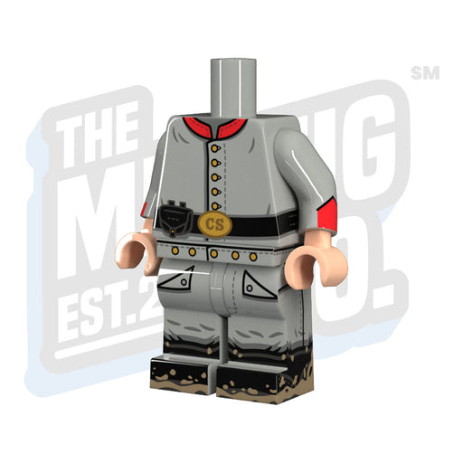 Custom Printed Lego - Confederate Artillery Body - The Minifig Co.
