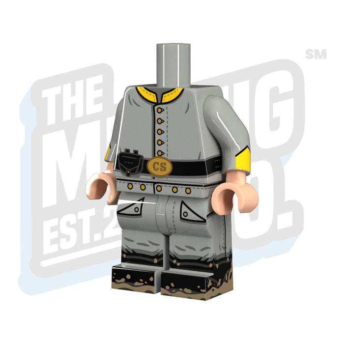 Custom Printed Lego - Confederate Cavalry Body - The Minifig Co.