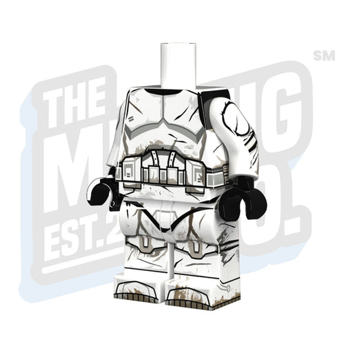 Custom Printed Lego - Plain Battle Hardened Body - The Minifig Co.