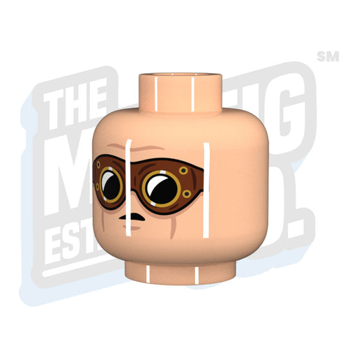 Custom Printed Lego - DAK Head (Lt. Flesh) - The Minifig Co.