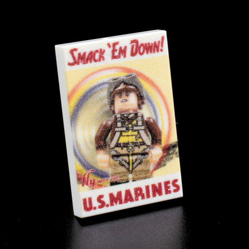 Custom Printed Lego - Smack Em' Down Poster Tile - The Minifig Co.