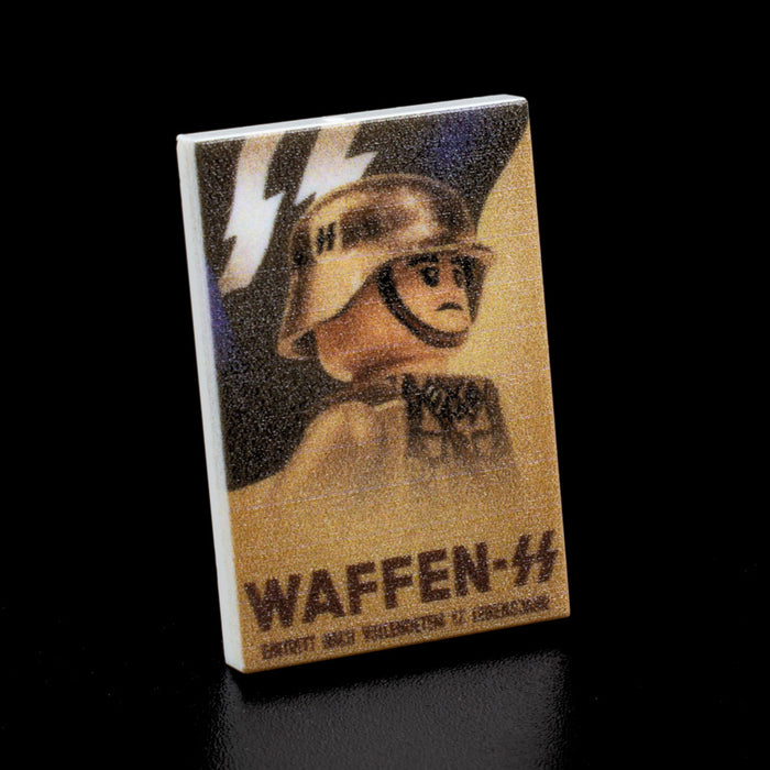 Custom Printed Lego - Waffen SS Poster Tile - The Minifig Co.