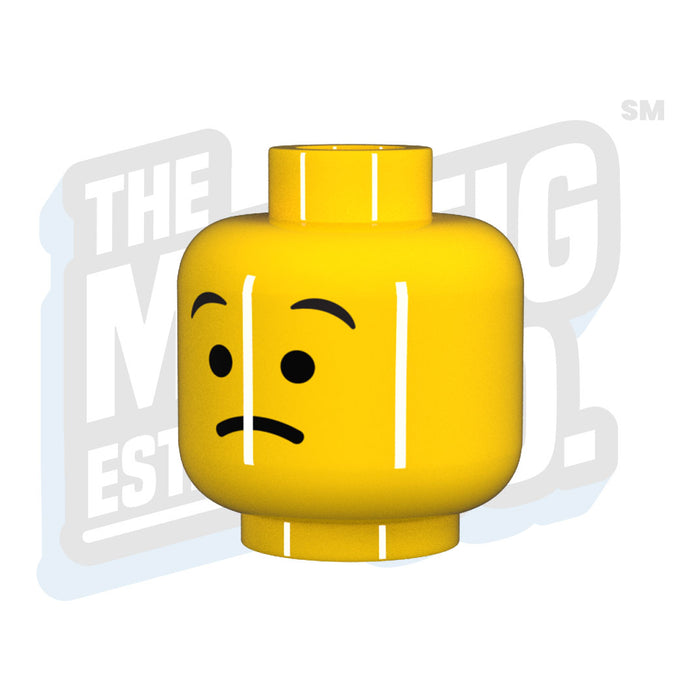 Custom Printed Lego - Surprised Head - The Minifig Co.