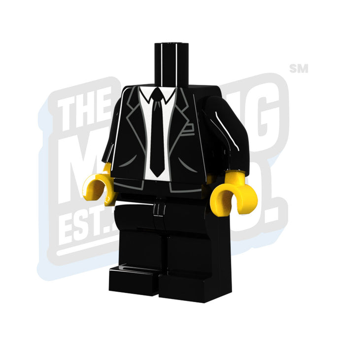 Custom Printed Lego - Suit & Tie Body - The Minifig Co.