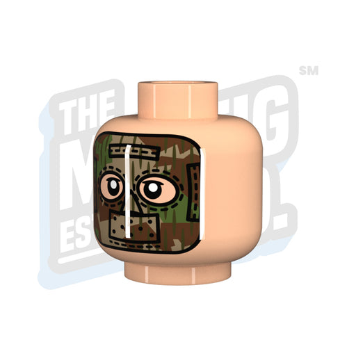 Custom Printed Lego - Splinter Mask Head (Lt. Flesh) - The Minifig Co.