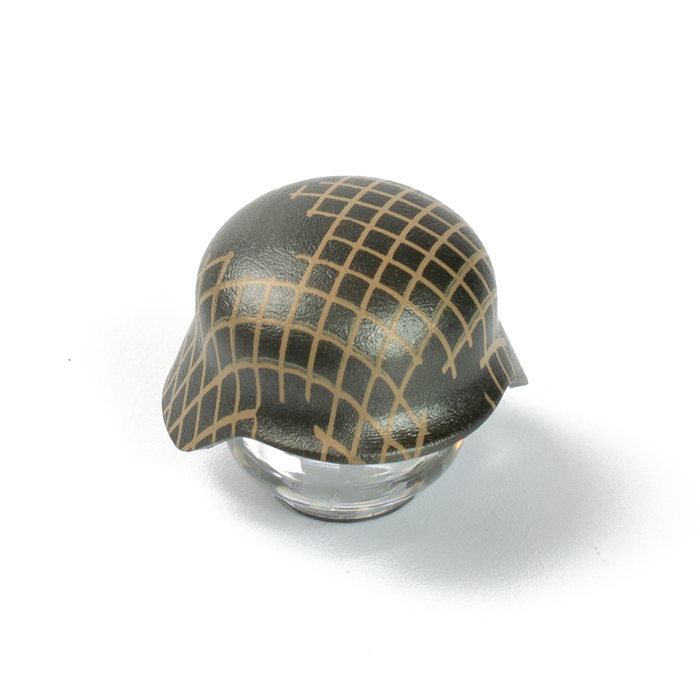 Custom Printed Lego - Ripped Netting Stahlhelm - The Minifig Co.