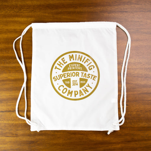 Custom Printed Lego - Drawstring Bag - The Minifig Co.