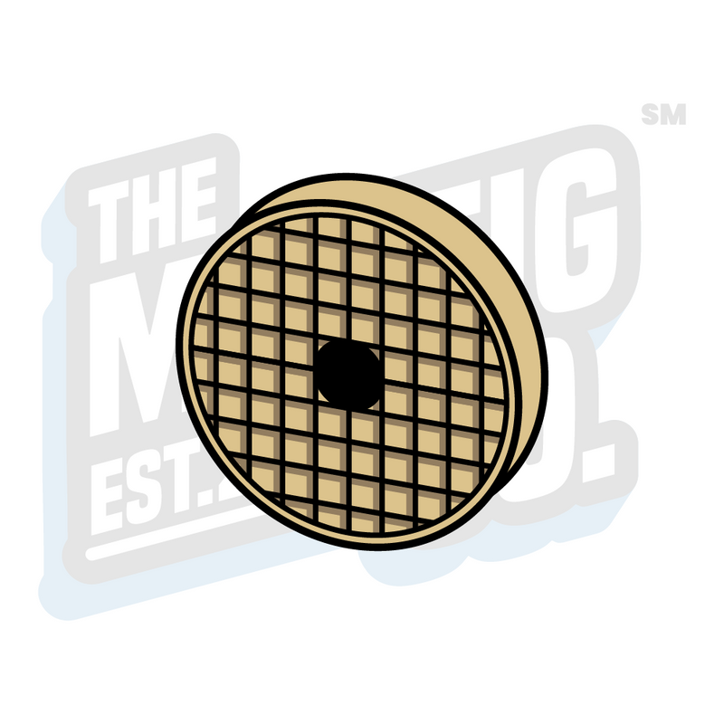 Custom Printed Lego - Vent Round Tile (2x2) - The Minifig Co.