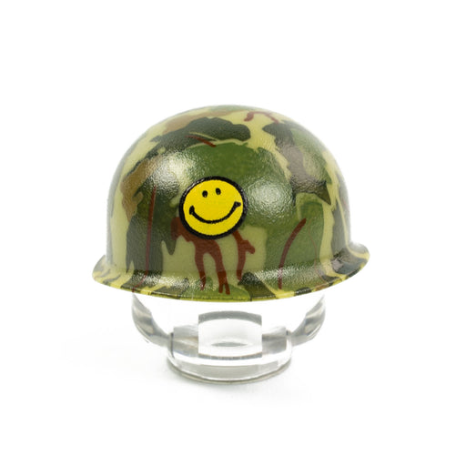 Custom Printed Lego - M1 Pot Mitchell Camo (Smiley) - The Minifig Co.