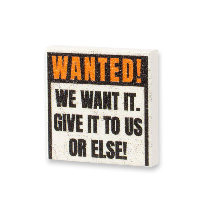 Custom Printed Lego - WANTED Tile - The Minifig Co.