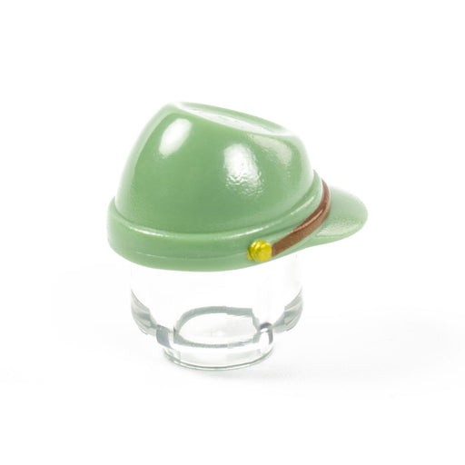 Custom Printed Lego - Japanese Kepi (Sand Green) - The Minifig Co.