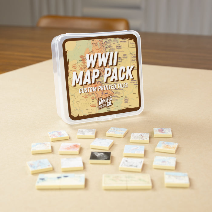Custom Printed Lego - WWII Map Pack - The Minifig Co.