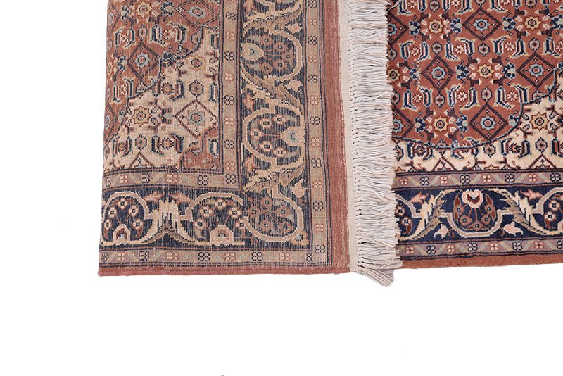 Silk Antique Oriental Rug | 2 x 4 Ft Rug | Low Pile Medallion Vintage Rug | Hand Knotted Rectangle Rug | Geometric Rug