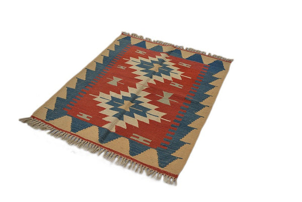 Vintage Persian Turkish Kilim Rug, Kilim Rug Turkish Kilim Area Rug Brown Red Ottoman Rugs for Living Room Rugs for Bedroom Area Rug
