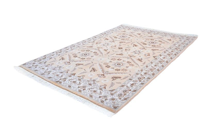 Beige Area Rug | Neutral Area Rug | 4 x 6 Rug | Hand Knotted Rug | Vintage Wool Rug | Farmhouse Style Rug | Hand Knotted Wool Rug