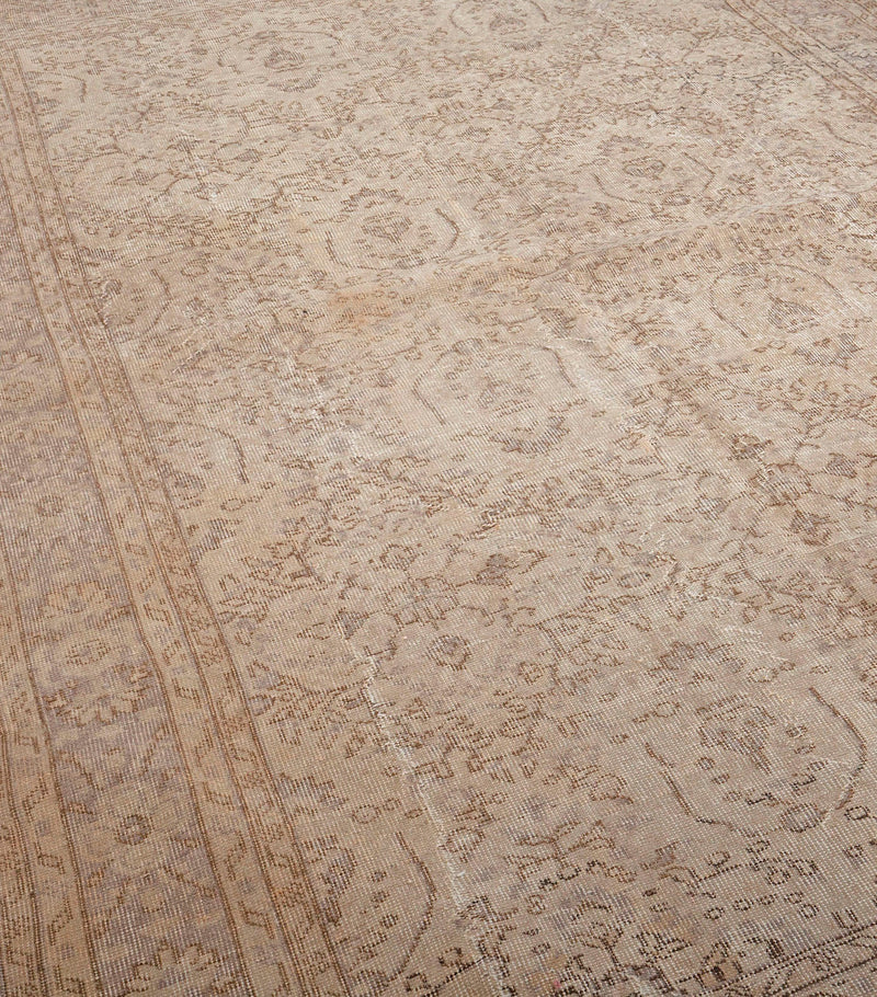 Oushak Area Rug Beige Turkish Large Rug, 7x10 feet, Large Living Vintage Rug, Wool Hand Knotted