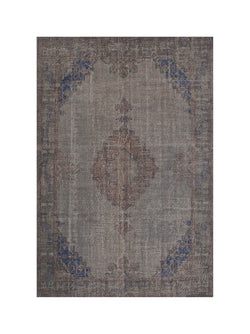 Grey Oushak  Vintage Rug,  7 x 10 feet, Oriental Medallion Large Rug made with Wool