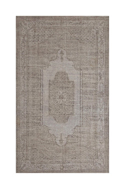 Grey Turkish Rug | Oushak Rug | 6 x 11 feet | Oriental Rug | Vintage Turkish Rug | Medallion Rug | Living Room Rug | Neutral Color Rug