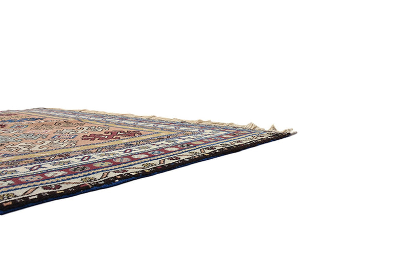 Brown Persian 5 x 8 Rug | MultiColor Floral Antique Rug | Tribal Vintage Rug | Handwoven Rug Wool | Earth Toned Rug