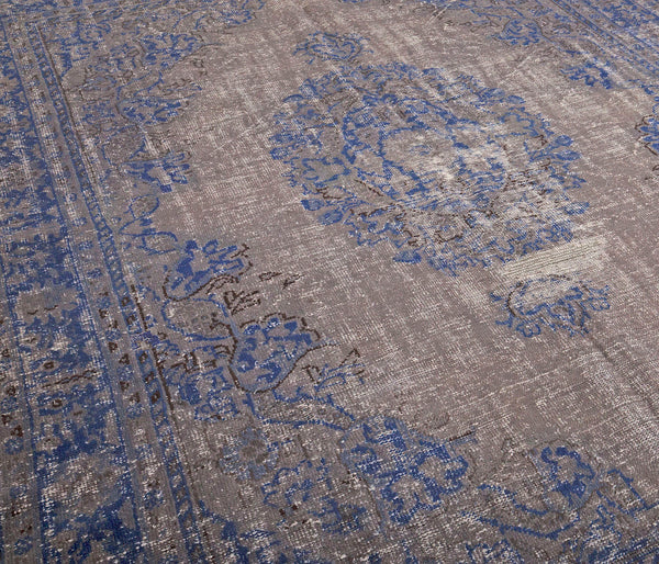 Blue Turkish Rug | Oushak Area Rug | 7 x 11 feet | Oriental Area Rug | Antique Rug | Vintage Turkish Rug | Living Room Rug