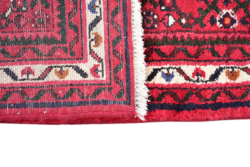 Deep Red Handmade 3x16 Turkish Runner | Extra Long Hallway Wool Antique Runner Rug | Vintage Hand Knotted Runner