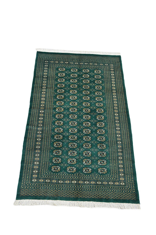 Emerald Green Rug | Oriental Traditional Rug | Persian Pakistan Style | 5 x 8 Feet | Wool Hand Knotted Antique Rug